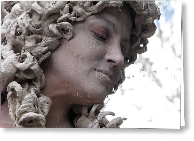 Goddess Of Stone Greeting Card