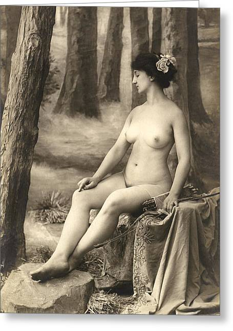 Goddess Of The Hunt Greeting Card by Underwood Archives