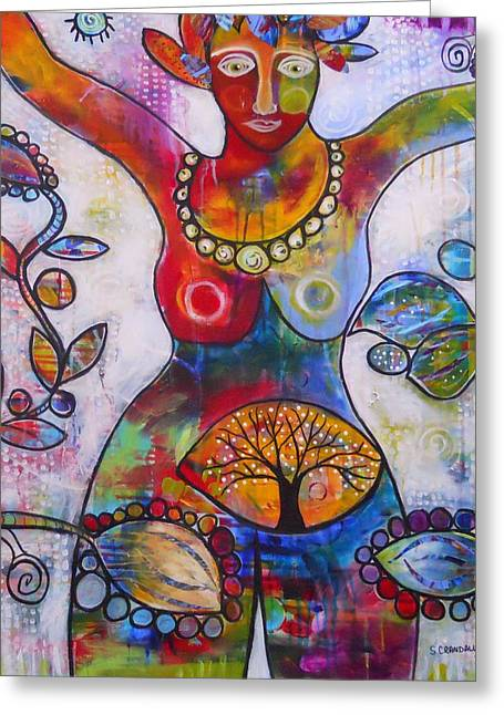 Goddess Of Truth Greeting Card by Shannon Crandall