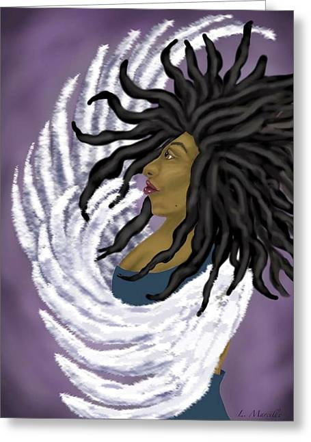 Goddess Rising Greeting Card by Linda Marcille
