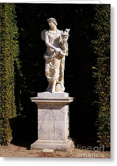 Asia Statue At Versailles Greeting Card by Olivier Le Queinec