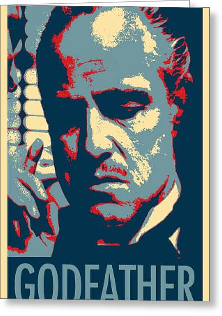 Godfather In Hope Greeting Card by Rob Hans