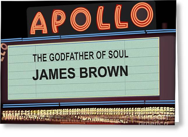 Godfather Of Soul Greeting Card by Michael Lovell