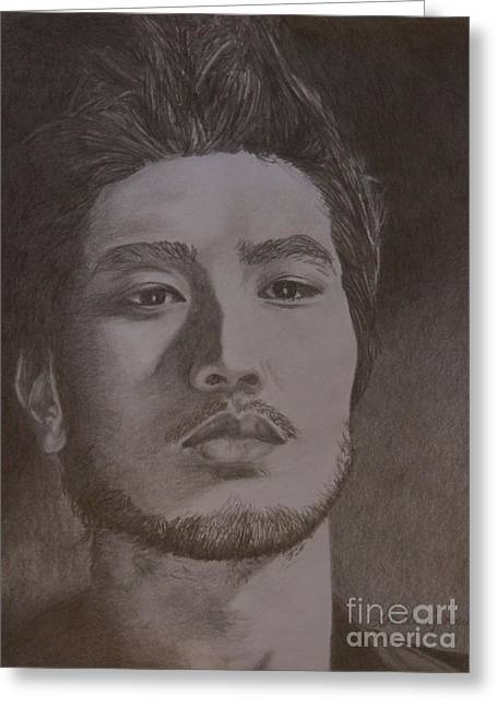 Godfrey Gao Greeting Card by Lorelle Gromus