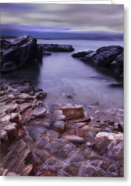 Godrevy Rocks 2 Greeting Card by Debra Jayne