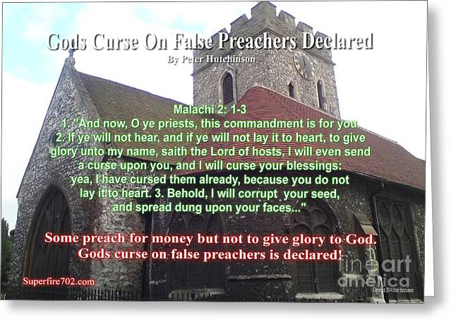 Gods Curse On False Preachers Declared Greeting Card