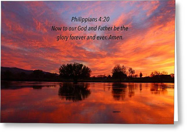 God's Glory Greeting Card