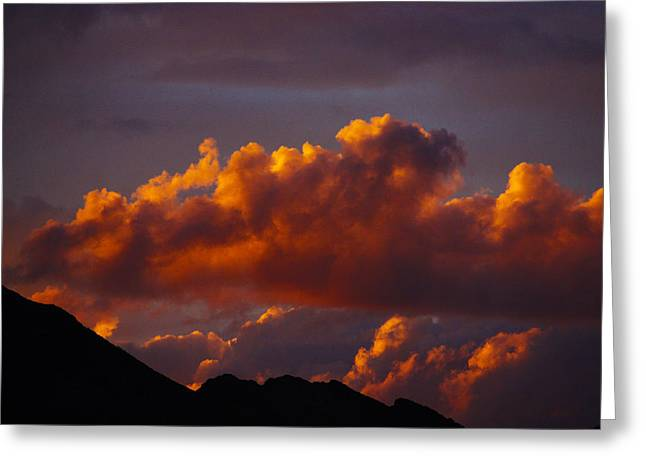 God's Sunset Cloud Greeting Card