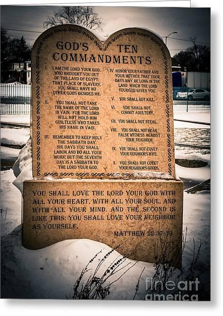 God's Ten Commandments Greeting Card
