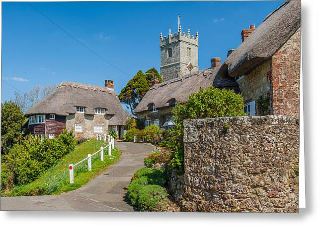 Godshill Isle Of Wight Greeting Card by David Ross