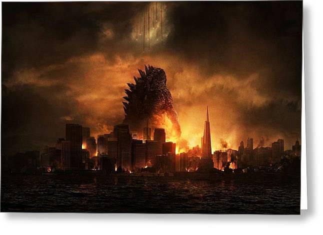 Godzilla 2014 B Greeting Card