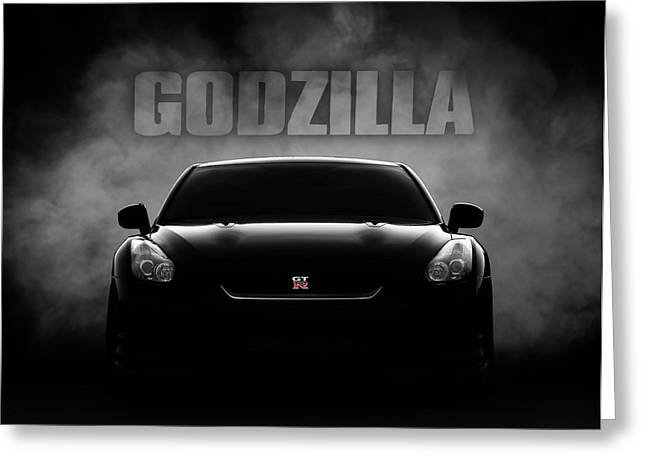 Godzilla Greeting Card by Douglas Pittman