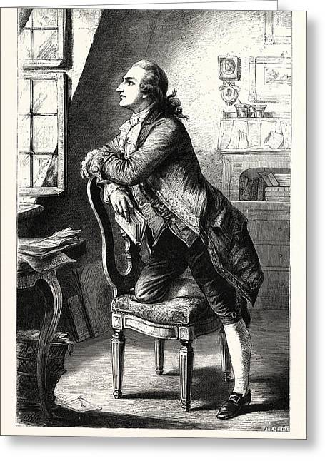 Goethe At Home. Johann Wolfgang Von Goethe 28 August 1749 Greeting Card by English School