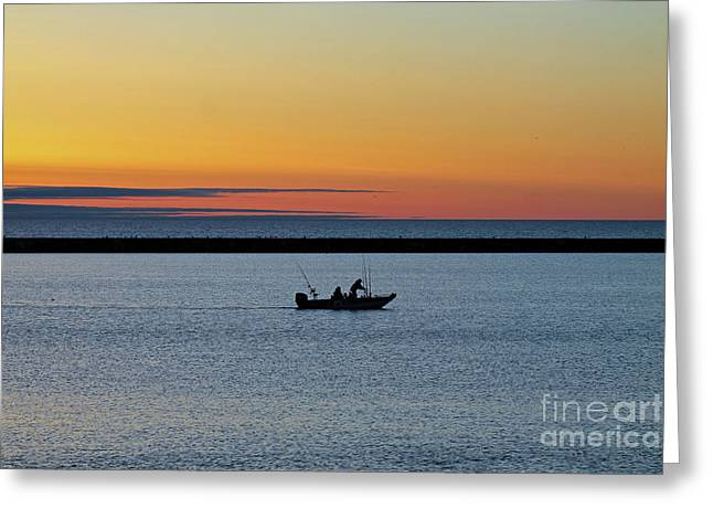 Going Fishing 2 Greeting Card by Eric Curtin