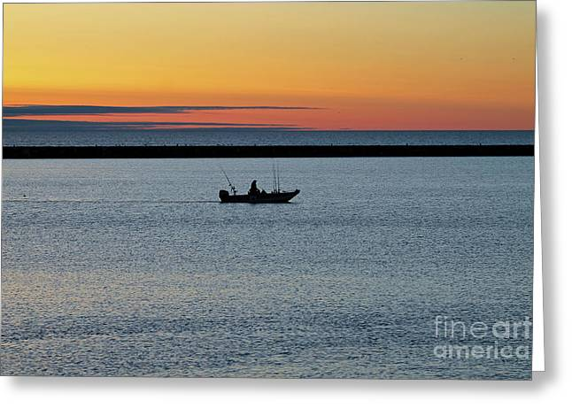 Going Fishing Greeting Card by Eric Curtin