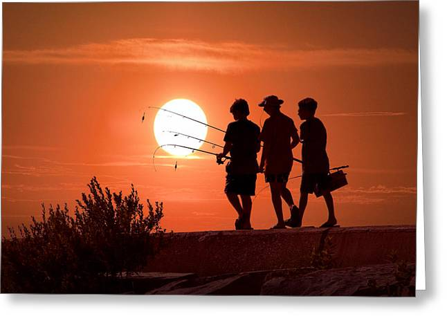 Going Fishing Greeting Card by Randall Nyhof