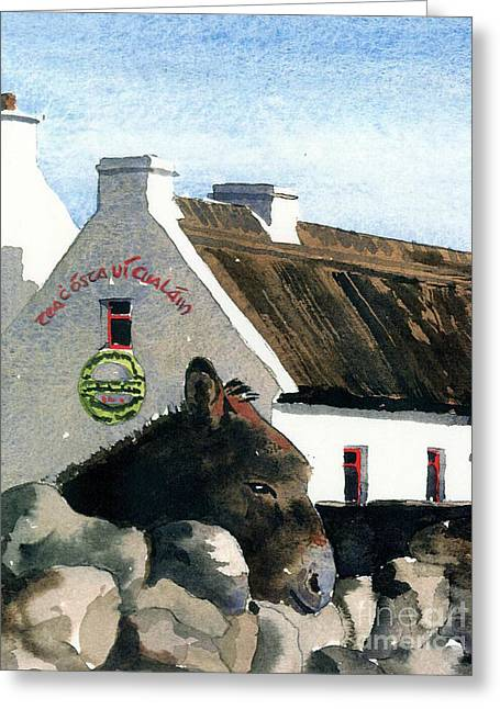Galway Rossaveal Going For A Pint ? Greeting Card