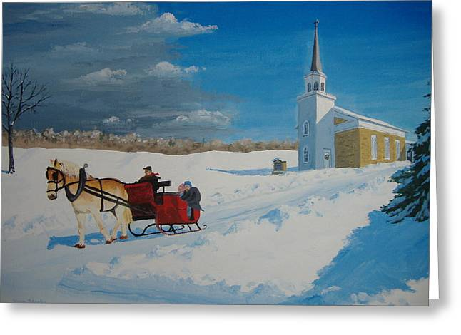 Going Home From Church Greeting Card by Norm Starks