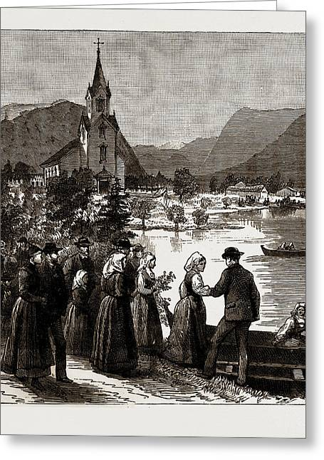 Going Home From Church, Norway Greeting Card