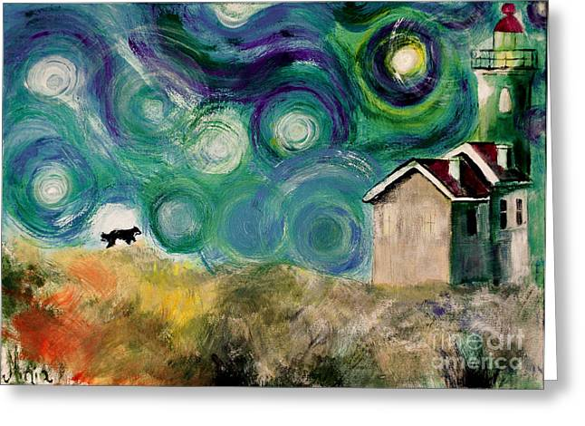 Greeting Card featuring the painting Going Home by Maja Sokolowska