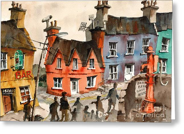 Cork   Eyeries  Going To Mass In Ireland Greeting Card by Val Byrne