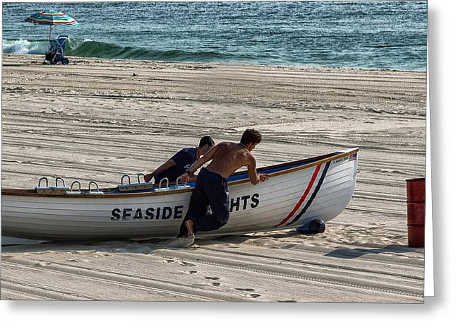 Going To Seaside Heights Greeting Card by John Hoey