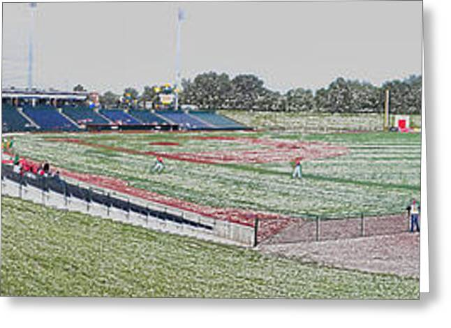 Going To The Baseball Game Digital Art Greeting Card by Thomas Woolworth