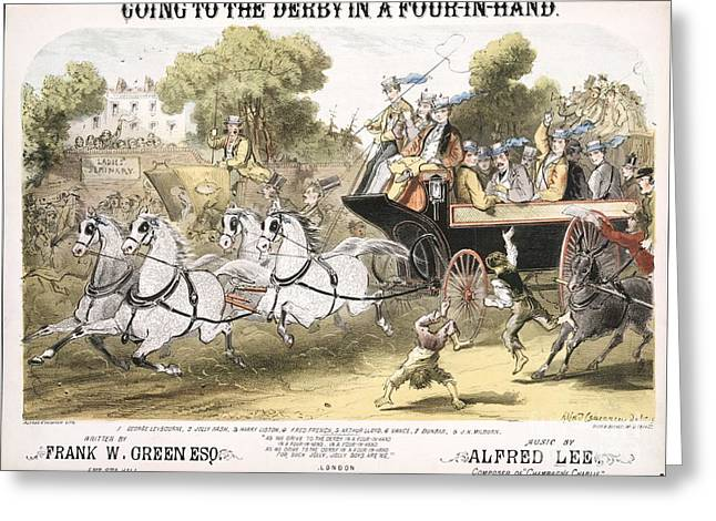 Going To The Derby, 1870 Song Greeting Card