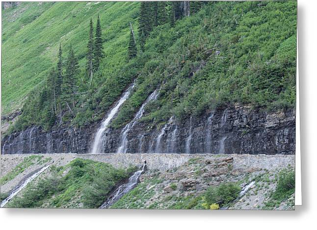 Going To The Sun Road Weeping Wall Greeting Card