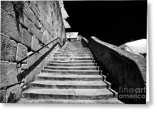 Going Up In Porto Greeting Card by John Rizzuto