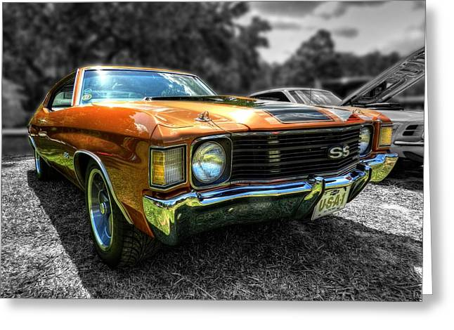 Gold '72 Chevelle Ss 001 Greeting Card by Lance Vaughn