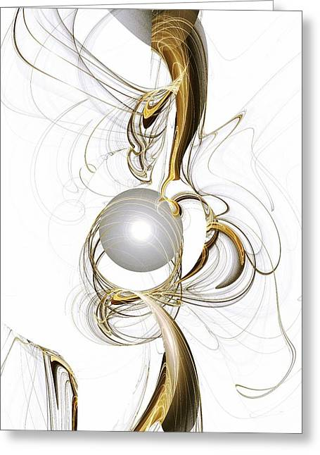 Gold And Pearl Greeting Card by Anastasiya Malakhova
