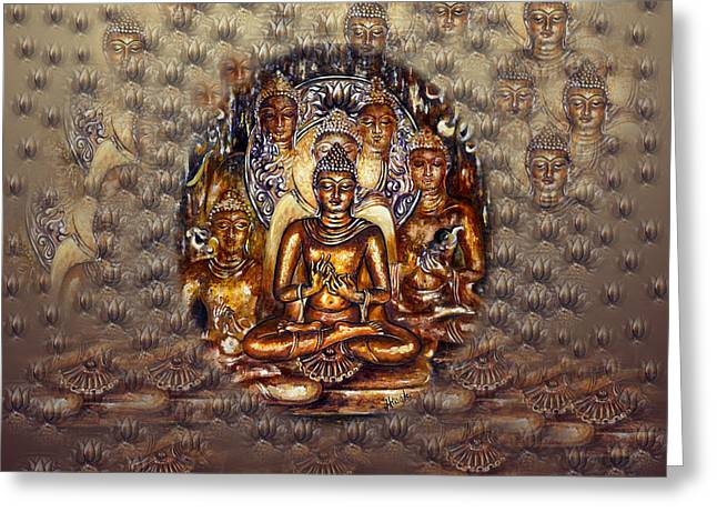Gold Buddha Greeting Card