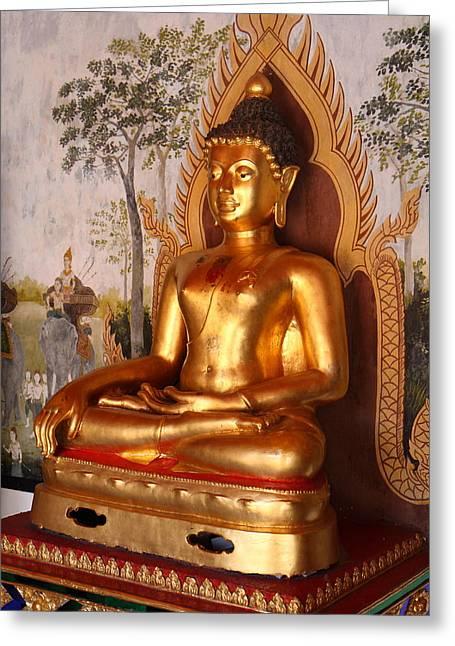 Gold Buddha - Wat Phrathat Doi Suthep - Chiang Mai Thailand - 01131 Greeting Card by DC Photographer