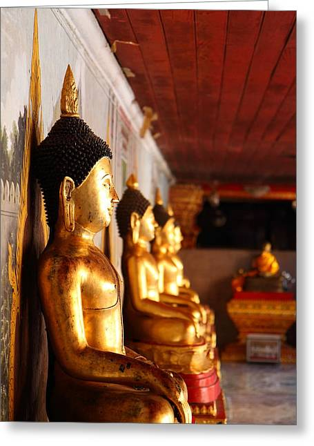 Gold Buddha - Wat Phrathat Doi Suthep - Chiang Mai Thailand - 01133 Greeting Card by DC Photographer