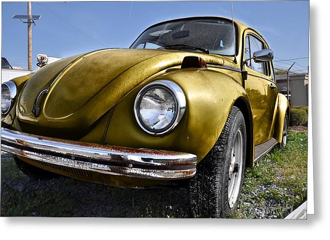 Gold Bug Greeting Card by Bill Cannon