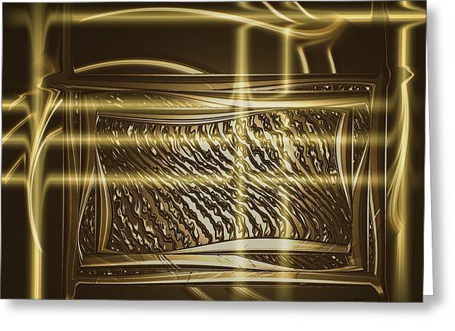 Gold Chrome Abstract Greeting Card