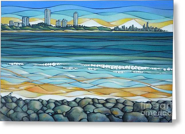 Greeting Card featuring the painting Gold Coast 180810 by Selena Boron