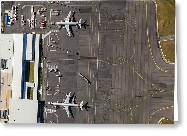 Gold Coast Airport Ool Greeting Card by Brett Price