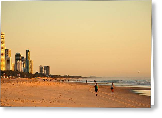 Greeting Card featuring the photograph Gold Coast Beach by Eric Tressler