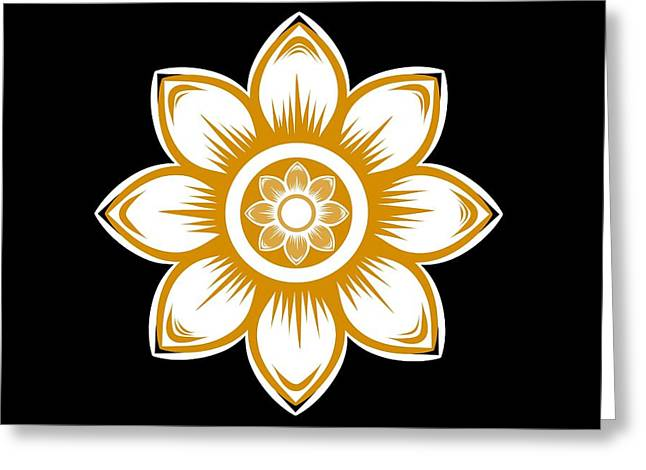 Gold Daisy Greeting Card by Chastity Hoff
