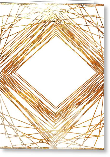 Gold Diamond Greeting Card by South Social Studio