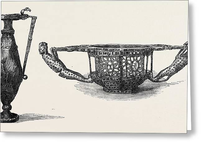 Gold Ewer Or Wine Jug Dacian 5th Century Left Bowl Or Greeting Card