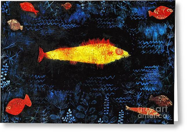 Gold Fish Greeting Card by Pg Reproductions