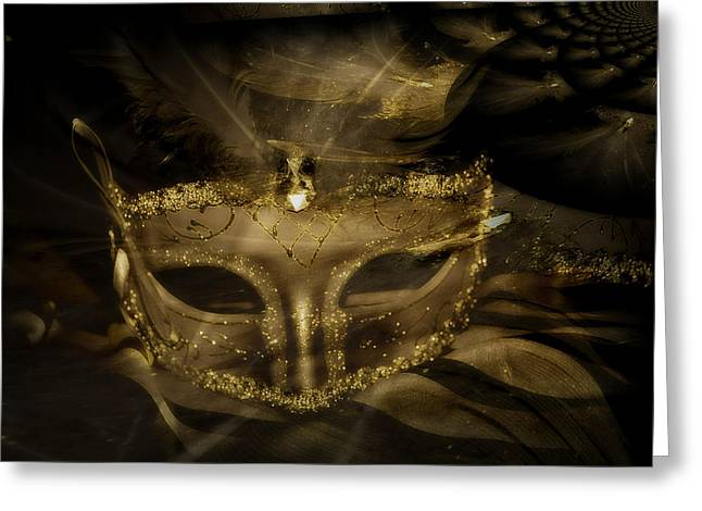 Gold In The Mask Greeting Card