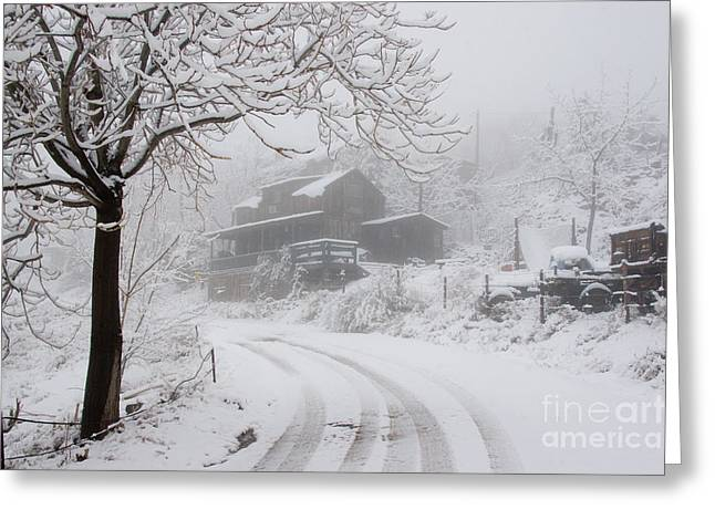 Gold King Mine In Snow Greeting Card