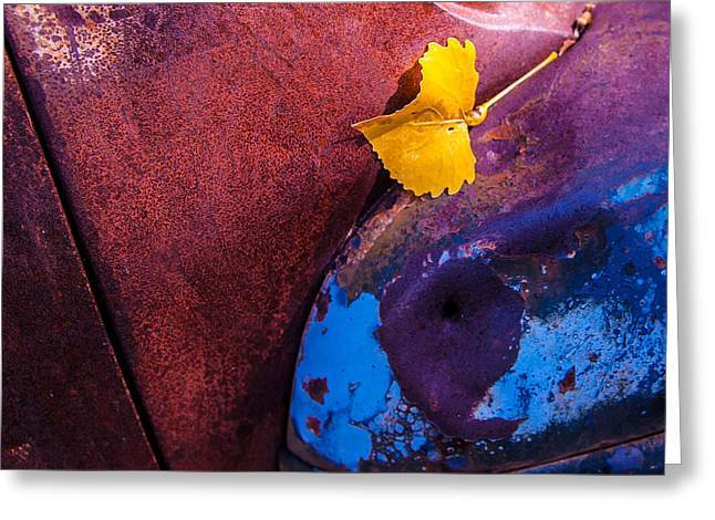 Gold Leaf And Patina Color Greeting Card