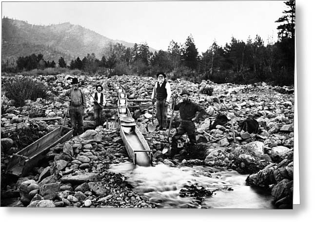 Gold Mining Claim C. 1890 Greeting Card