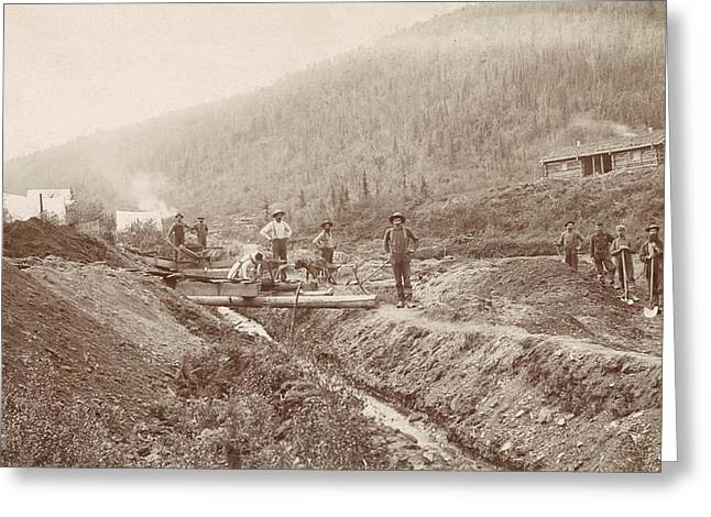 Gold Mining In California Greeting Card by Library Of Congress
