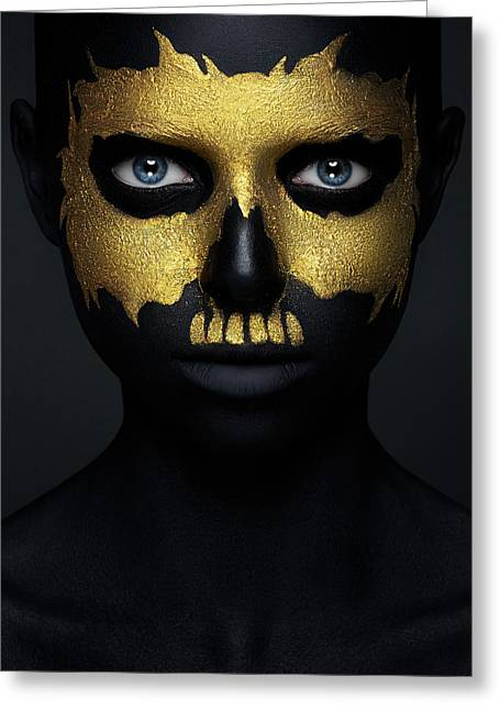 Gold Of The Dead. Greeting Card